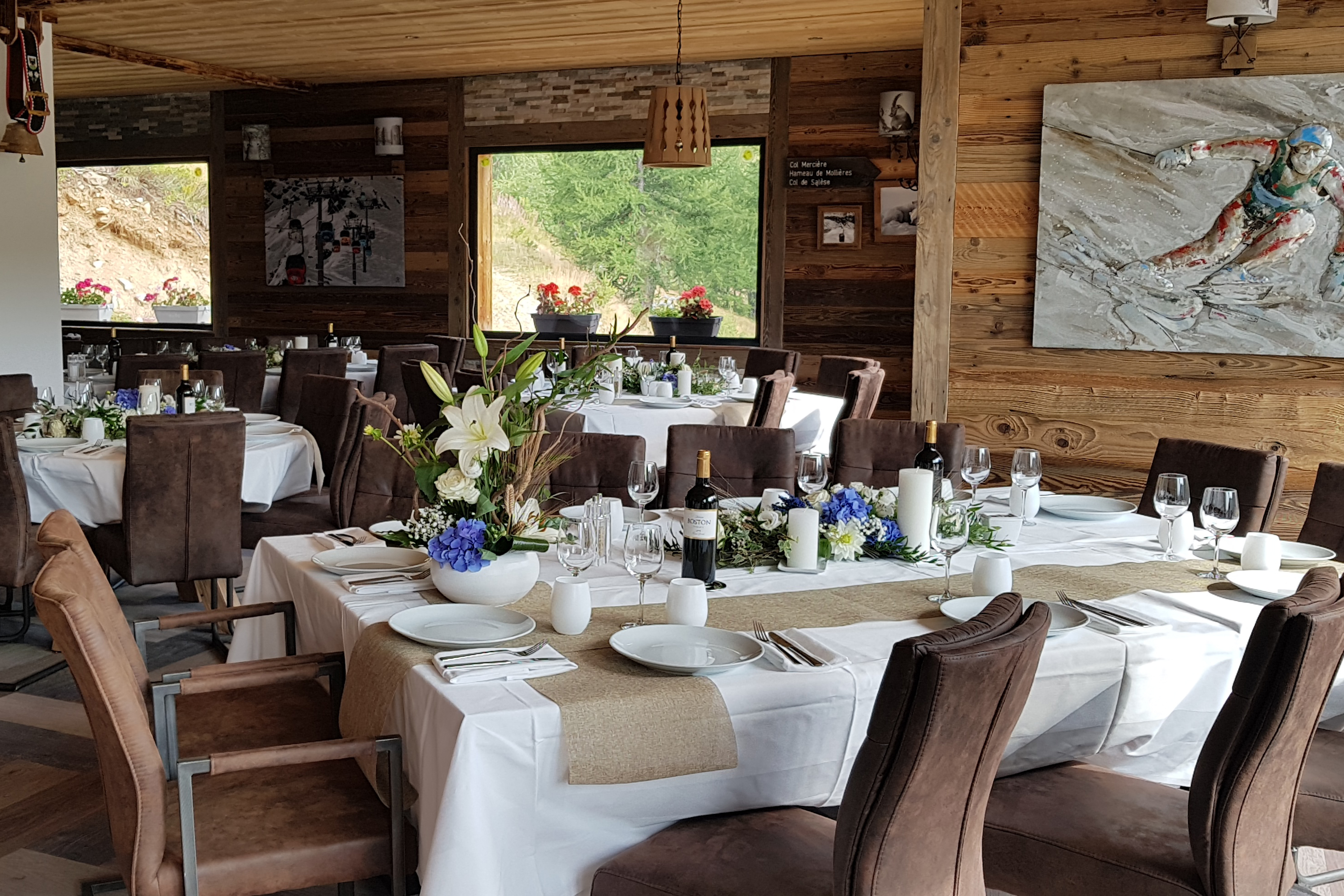 Table restaurant Chalet Marano